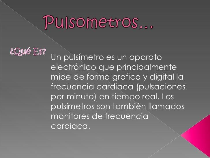 Pulsometros..!