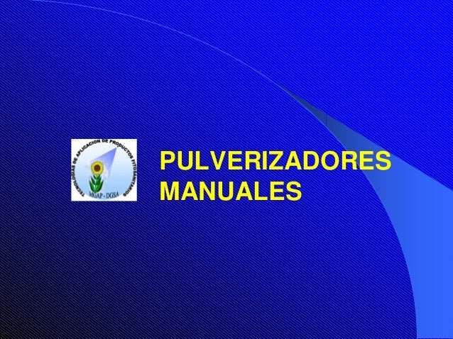 PULVERIZADORES MANUALES