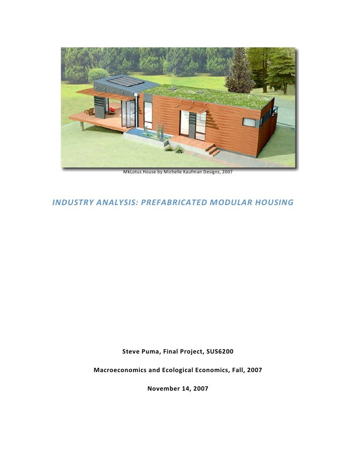 Modular Home Industry Analysis (2007)