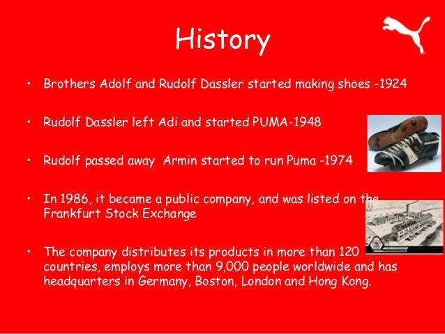 puma shoe history