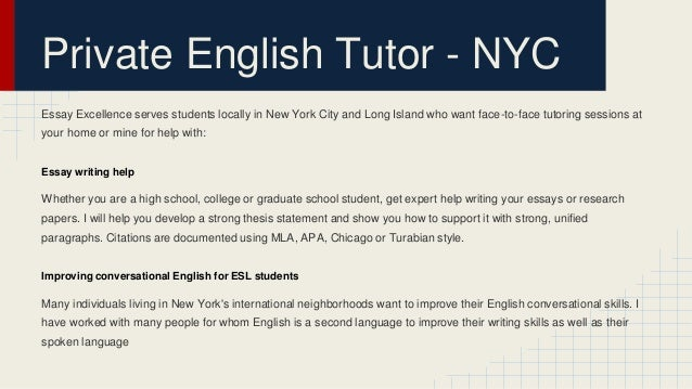 essay writing tutors nyc