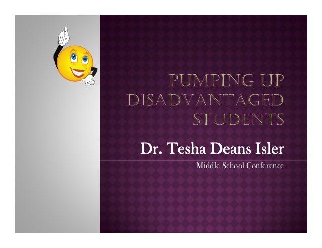 Pumping Up Disadvantaged Students!!!