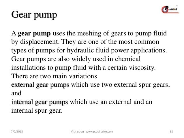 Gear Pump Ppt Gear Pump a Gear Pump Uses The