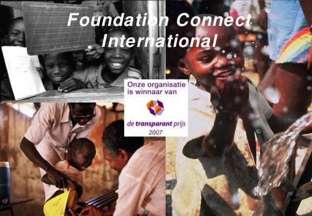 Foundation ConnectInternationalStichting Connect InternationalFoundation ConnectInternational