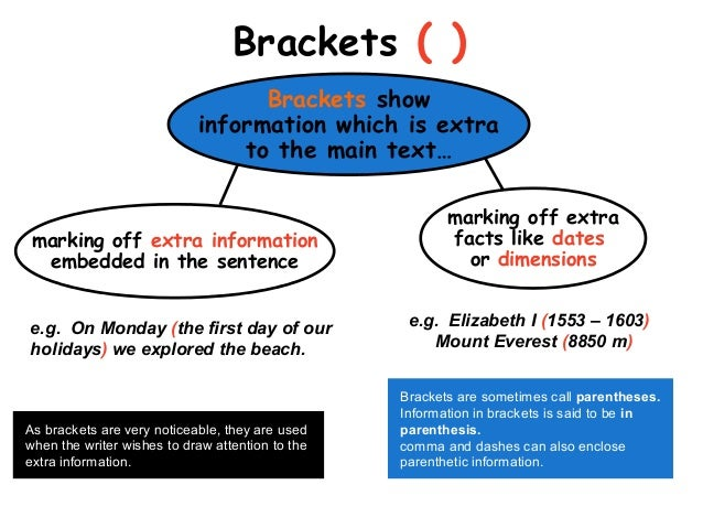 Can we use brackets in essays