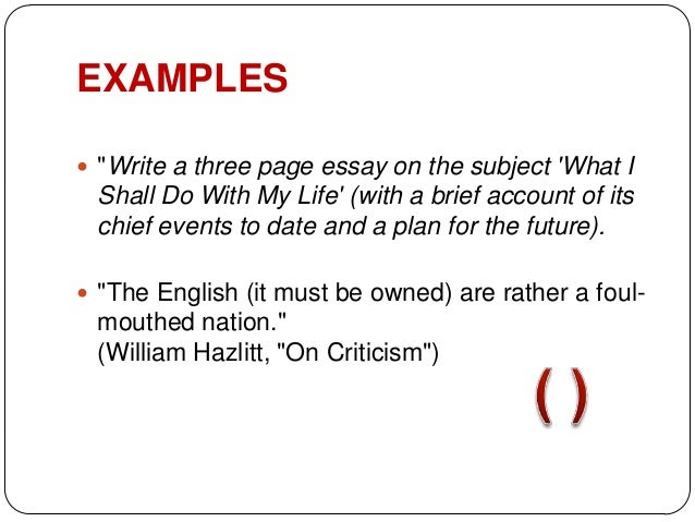 punctuation marks in essays Using quotations in essays (with specific rules for  notice the punctuation marks that are used with quotations the only two punctuation marks used to.