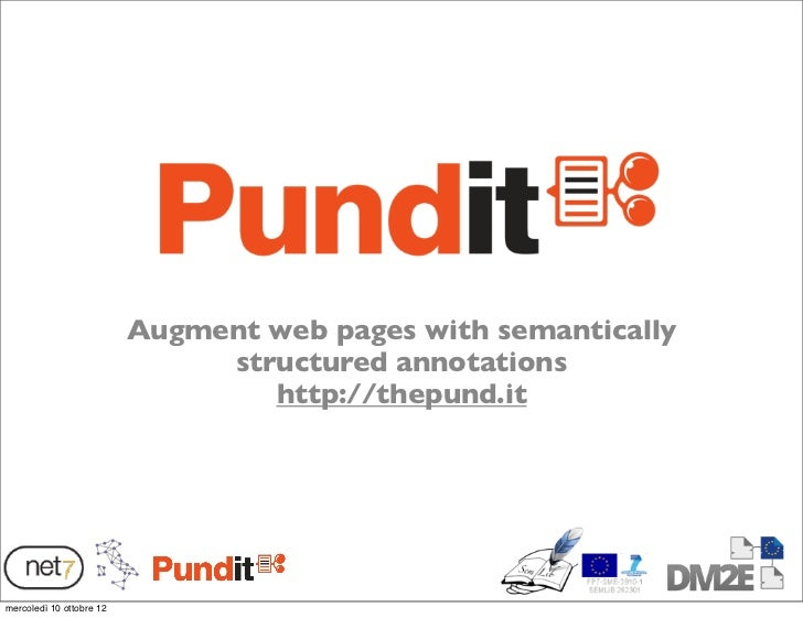 Augment web pages with semantically                               structured annotations                                  ...