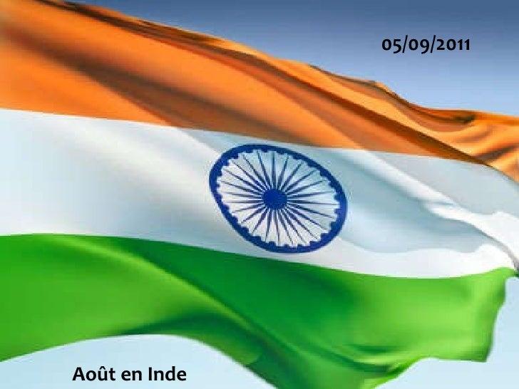 05/09/2011 Août en Inde