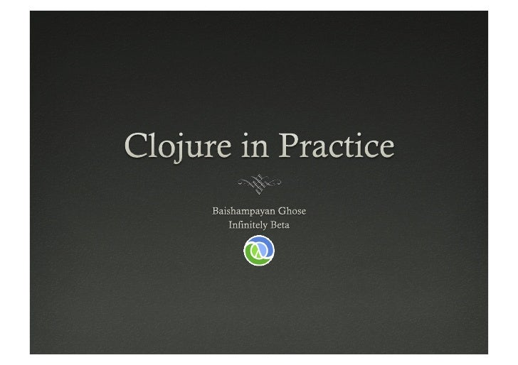 Pune Clojure Course Outline