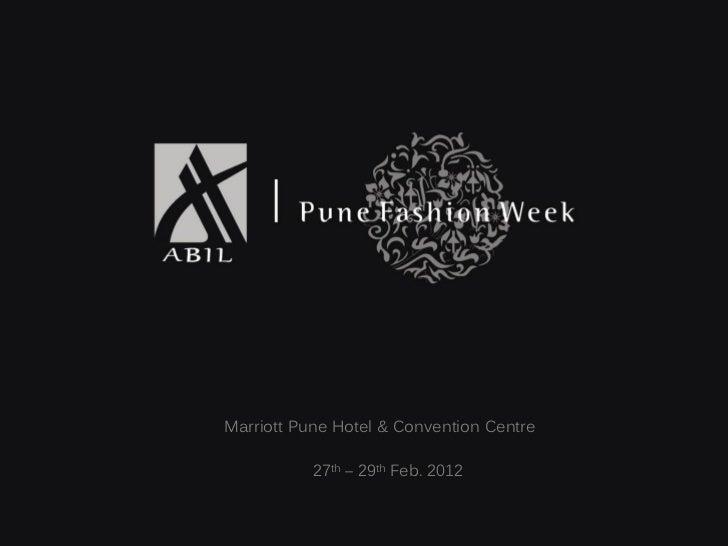 Pune Fashion Week - Season 3