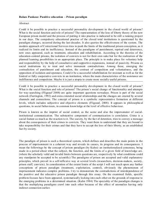 Punitive education - Prison paradigm