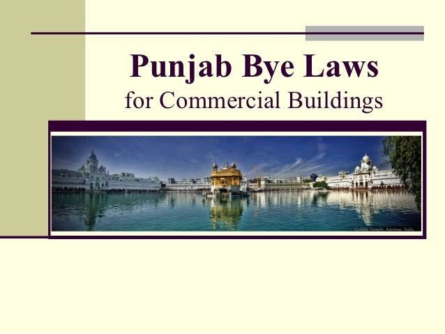 Punjab Bye Lawsfor Commercial Buildings