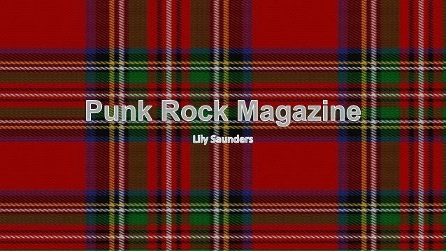 Punk rock magazine power point