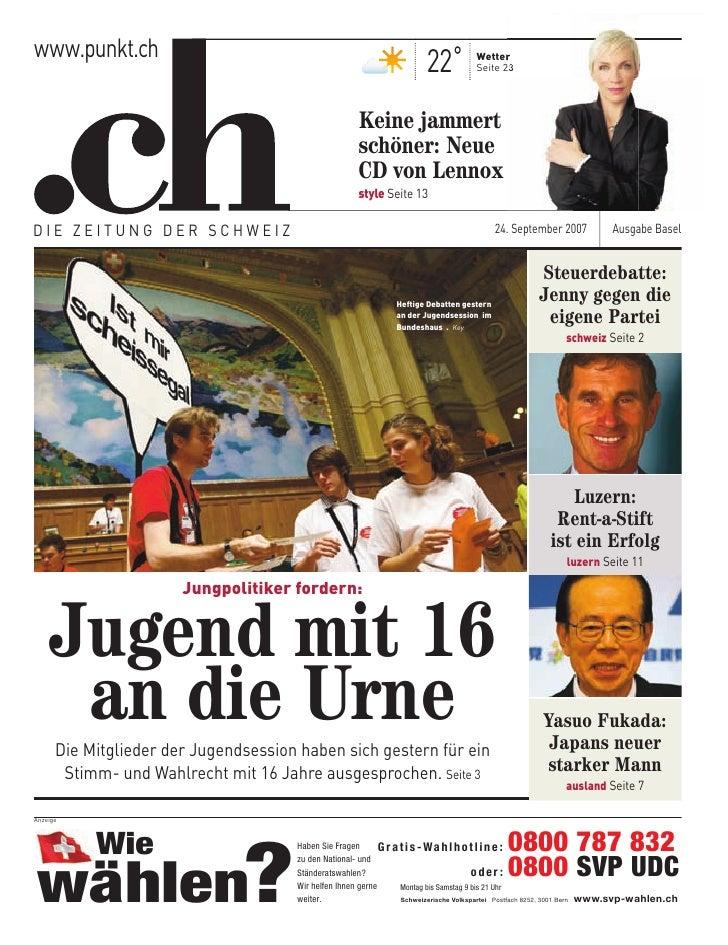 www.punkt.ch                                                                       22˚         Wetter                     ...