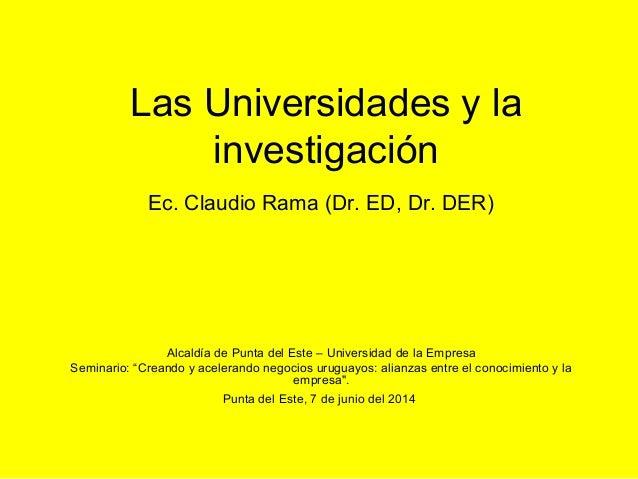 Las universidades y la investigación