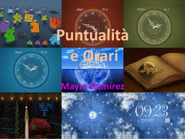 Puntualità e Orari Mayra Ramírez