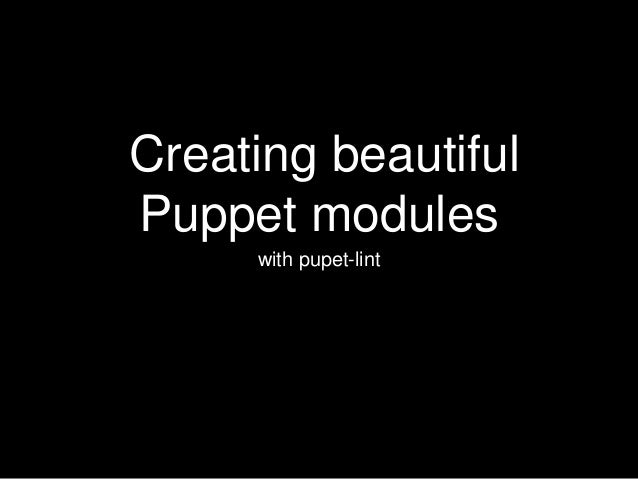 how to write puppet modules