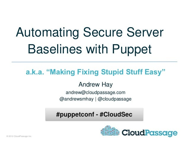 Automating secure server baselines with Puppet