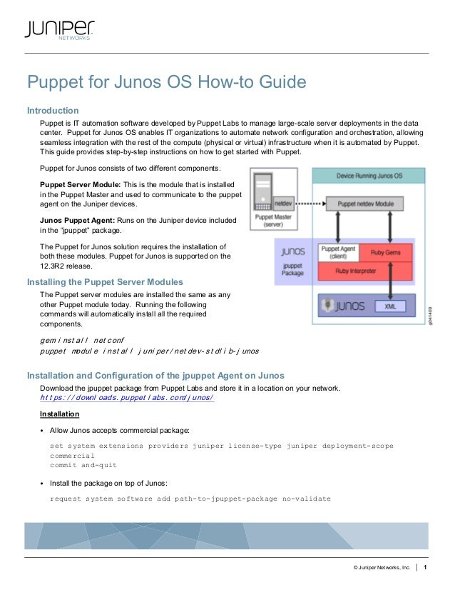 Puppet for Junos OS How-to Guide