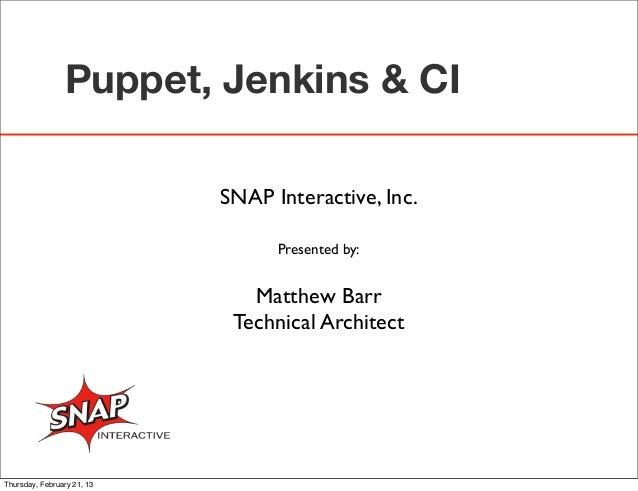 Puppet & Jenkins