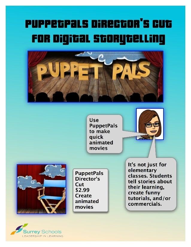 Digital Storytelling: Puppetpals Directors Cut App