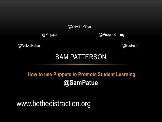 Supporting Student Learning with Puppets RSCON 13