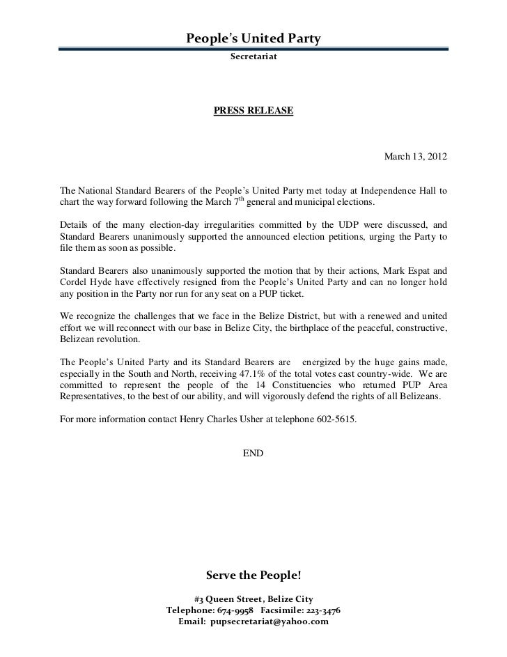 Pup press release--Charting the Way Forward