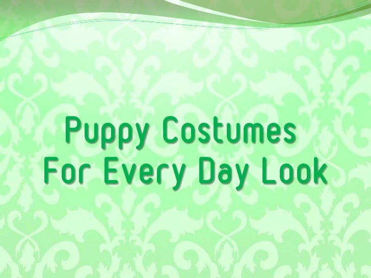 Puppy Costumes  For Every Day Look
