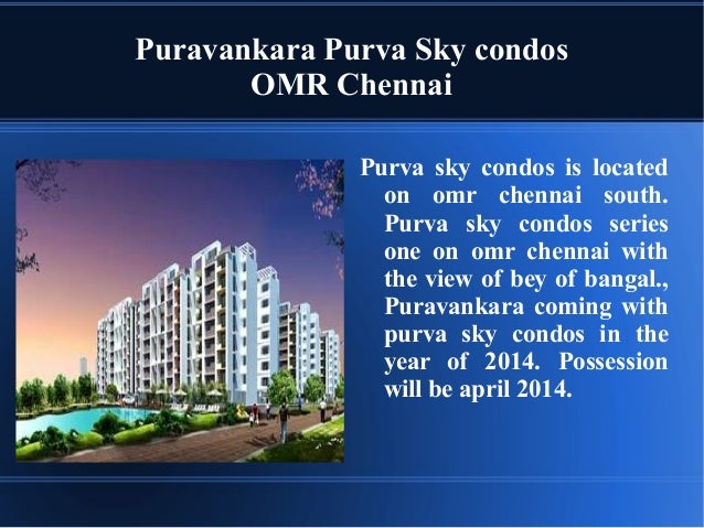 3 BHK Apartments in Purva Sky condos in OMR - 9278892788
