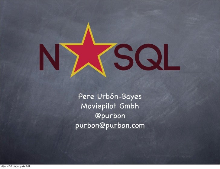 Try NoSQL it doesn't hurts and is fun