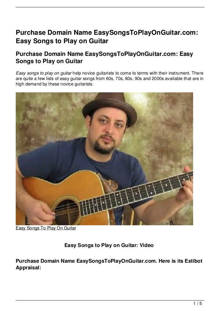 Purchase Domain Name EasySongsToPlayOnGuitar.com:Easy Songs to Play on GuitarPurchase Domain Name EasySongsToPlayOnGuitar....