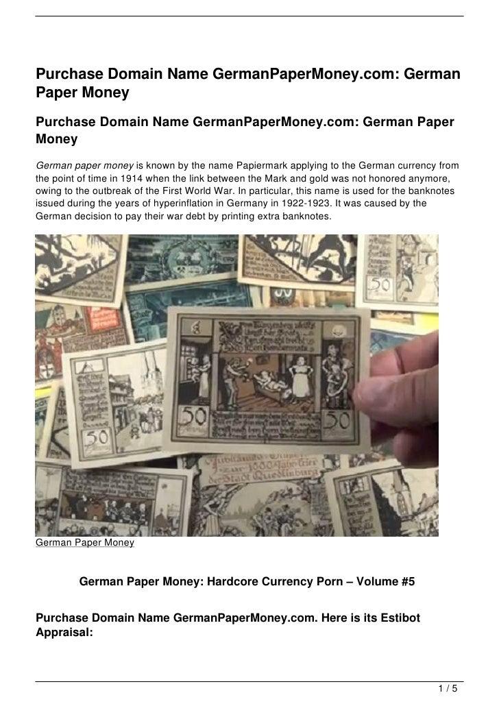 Purchase Domain Name GermanPaperMoney.com: German Paper Money