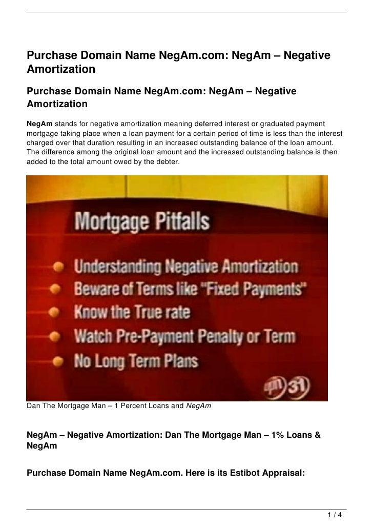 Purchase Domain Name NegAm.com: NegAm – NegativeAmortizationPurchase Domain Name NegAm.com: NegAm – NegativeAmortizationNe...