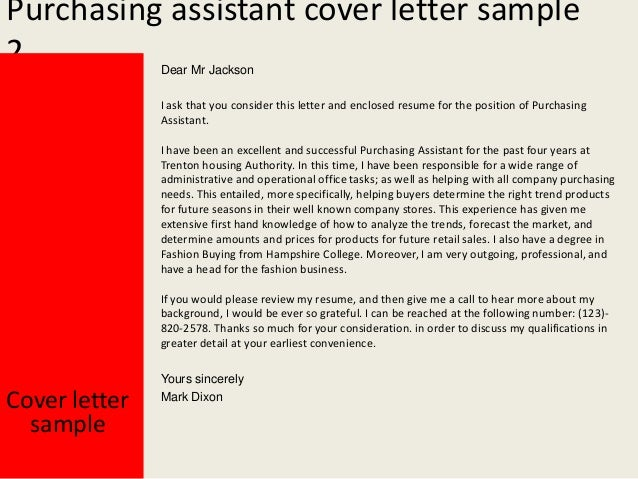 purchasing assistant cover letter. Resume Example. Resume CV Cover Letter