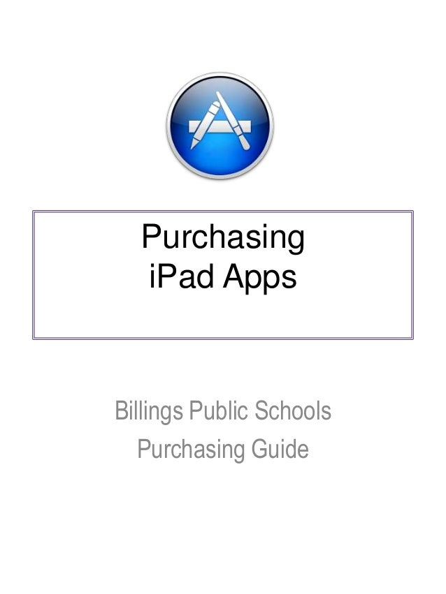 BPS - Purchasing iPad apps   Guidelines