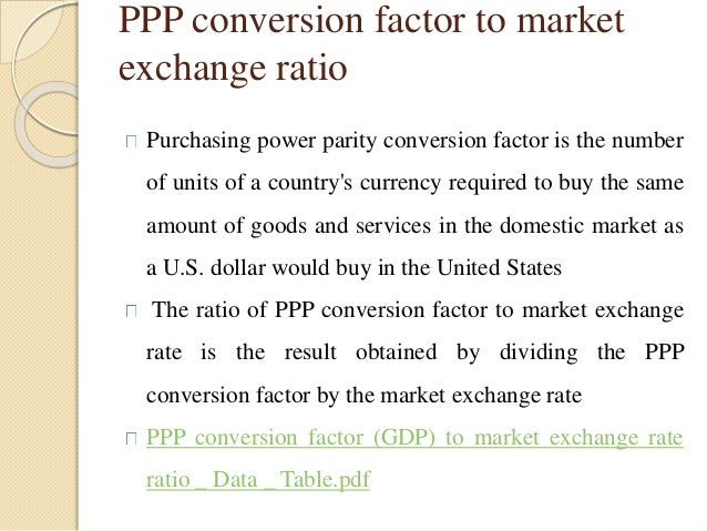 GDP - purchasing power parity vs official exchange rate?