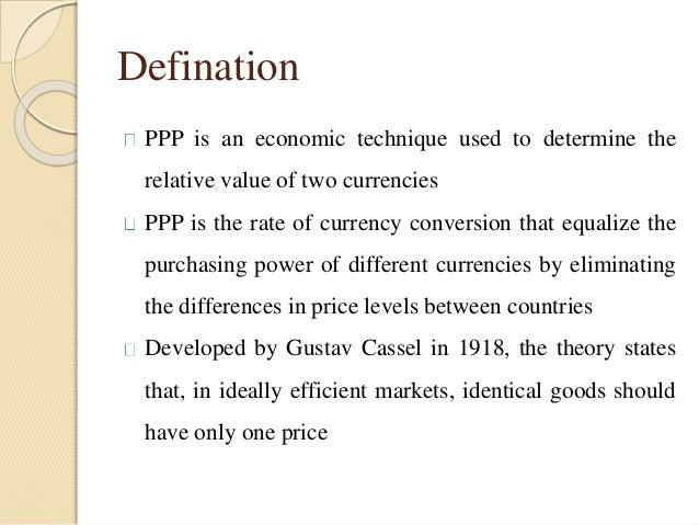 purchasing power parity research papers Ppp as a theory of exchange rate determination  oecd site containing  statistics and the latest research, reports and papers relating to ppps ppp faq.