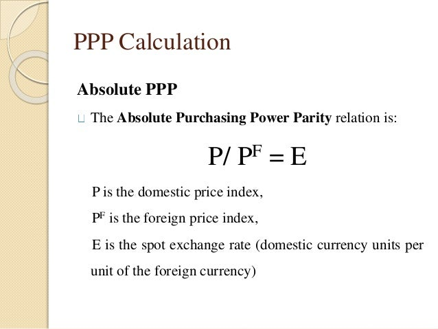 Purchasing Power Parity (PPP) and the Exchange Rate | Fixing the ...