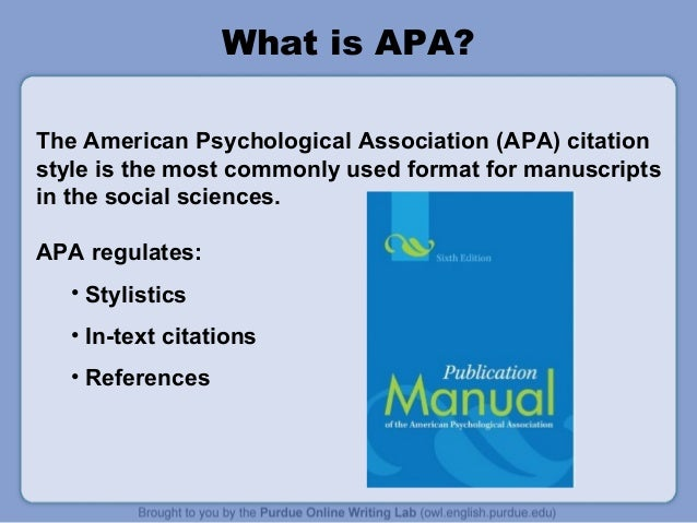 Owl Apa Guide APA Style Guide Citing Sources Guide WMU Research