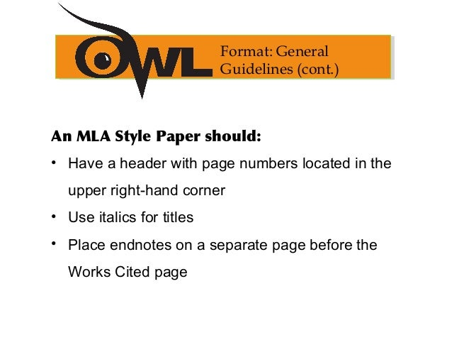 Questions involving MLA format?