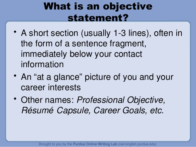 Developing a resume