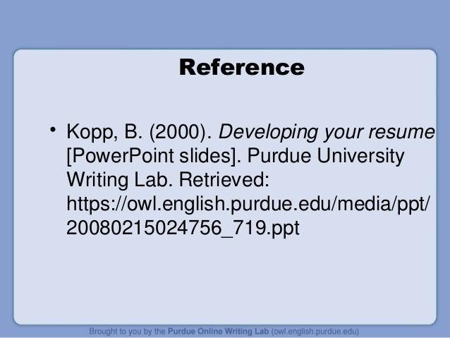 Resume purdue writing lab