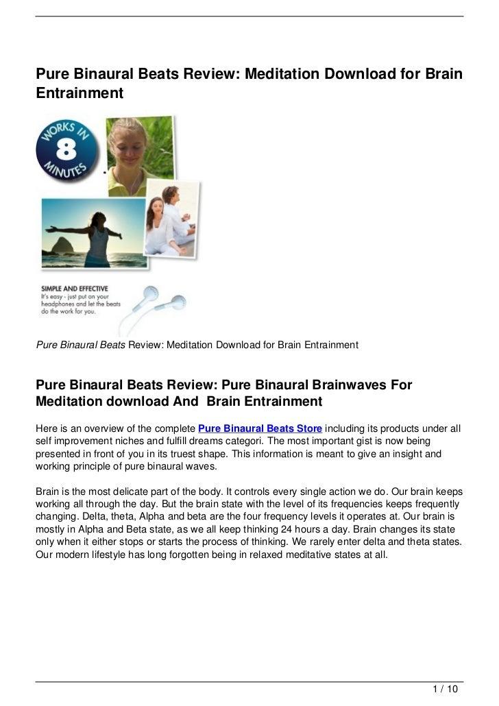 Pure Binaural Beats Review: Meditation Download for BrainEntrainmentPure Binaural Beats Review: Meditation Download for Br...