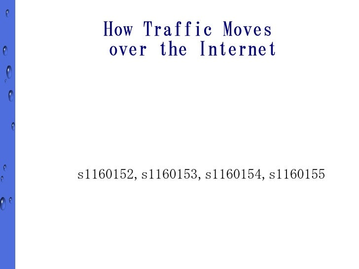 How Traffic Moves     over the Internet     s1160152,s1160153,s1160154,s1160155