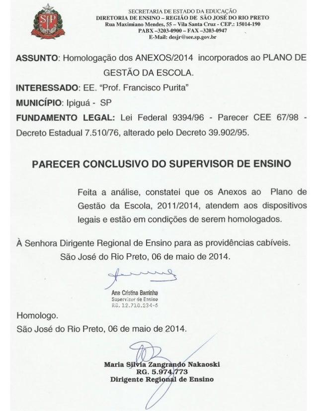 Plano Gestão EE Prof Francisco Purita