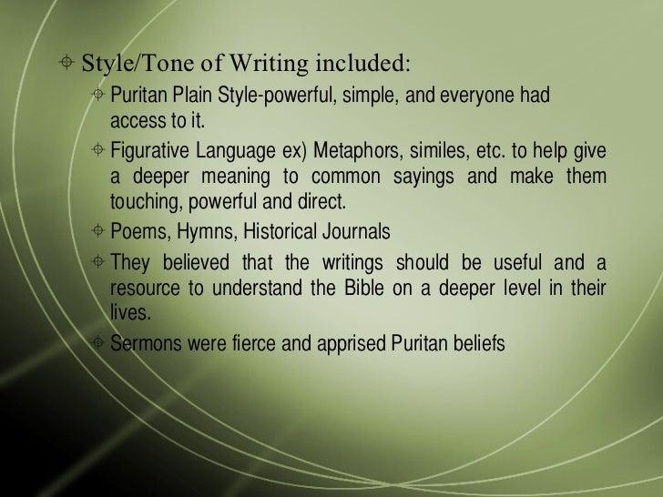 puritans literature essay