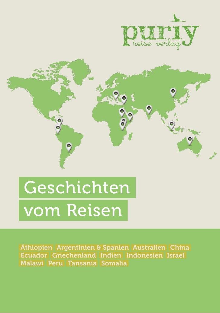 reise-verlagGeschichtenvom ReisenÄthiopien Argentinien & Spanien Australien ChinaEcuador Griechenland Indien Indonesien Is...