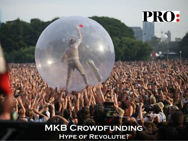 Purmerendse regio ondernemers - mkb crowdfunding, een hype of een revolutie