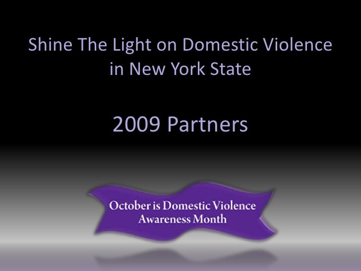 Shine The Light on Domestic Violence          in New York State           2009 Partners