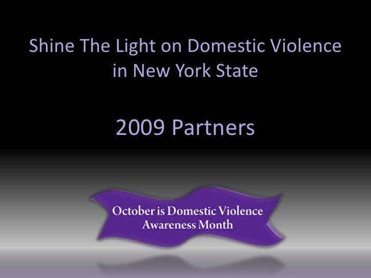 Shine the Light on Domestic Violence 2009